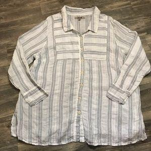 Flax 100% Linen Button Down